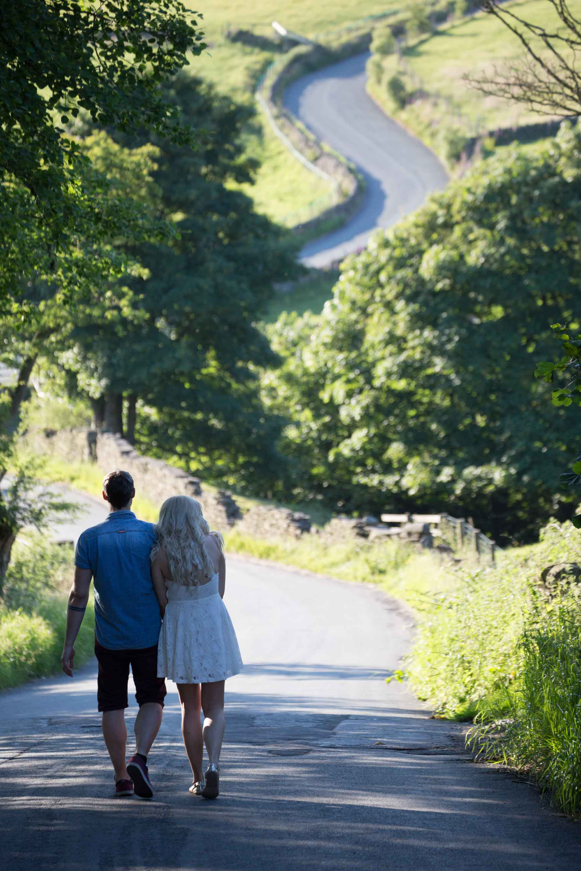 walking down the road together