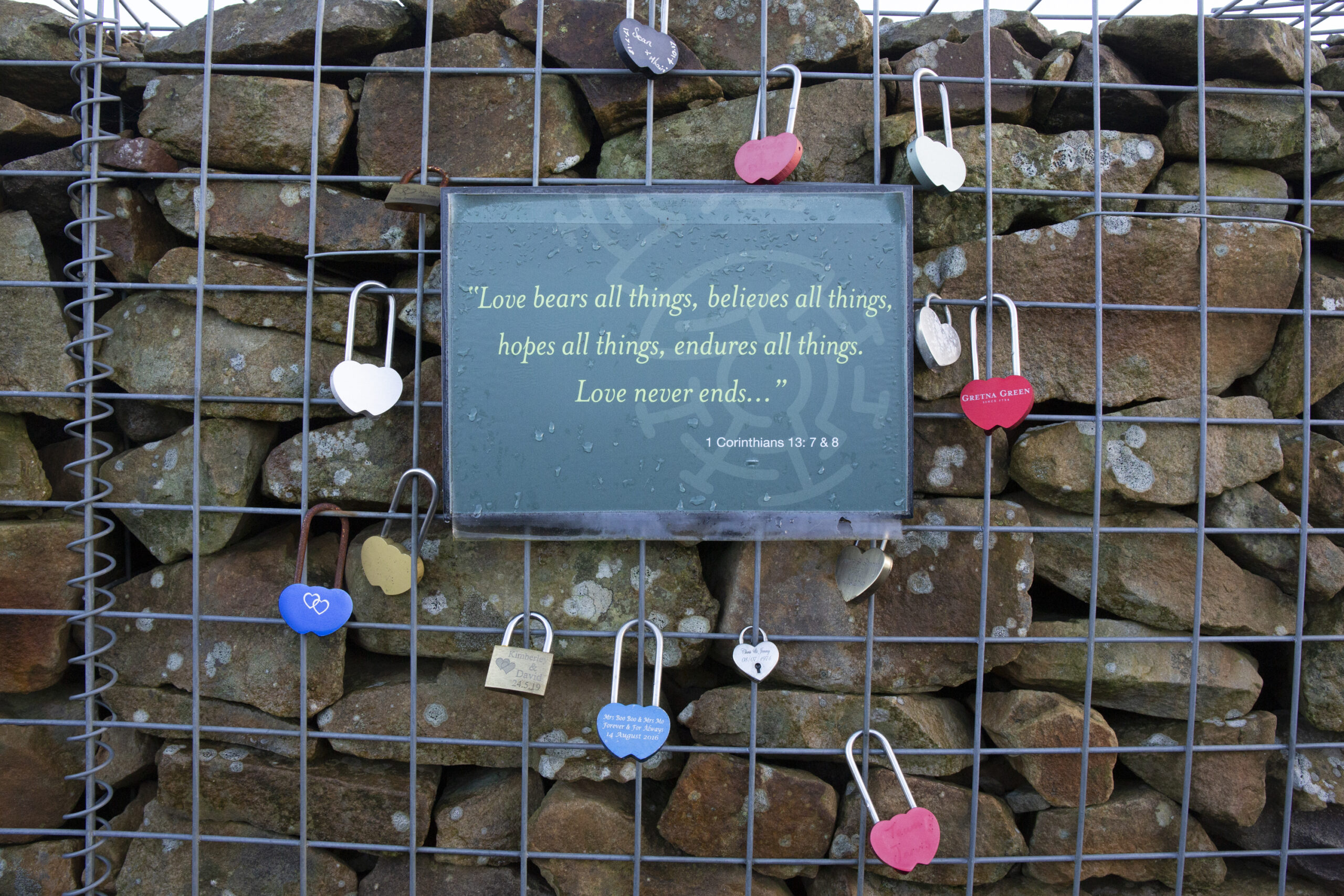 sign about love in the lovers maze at gretna green