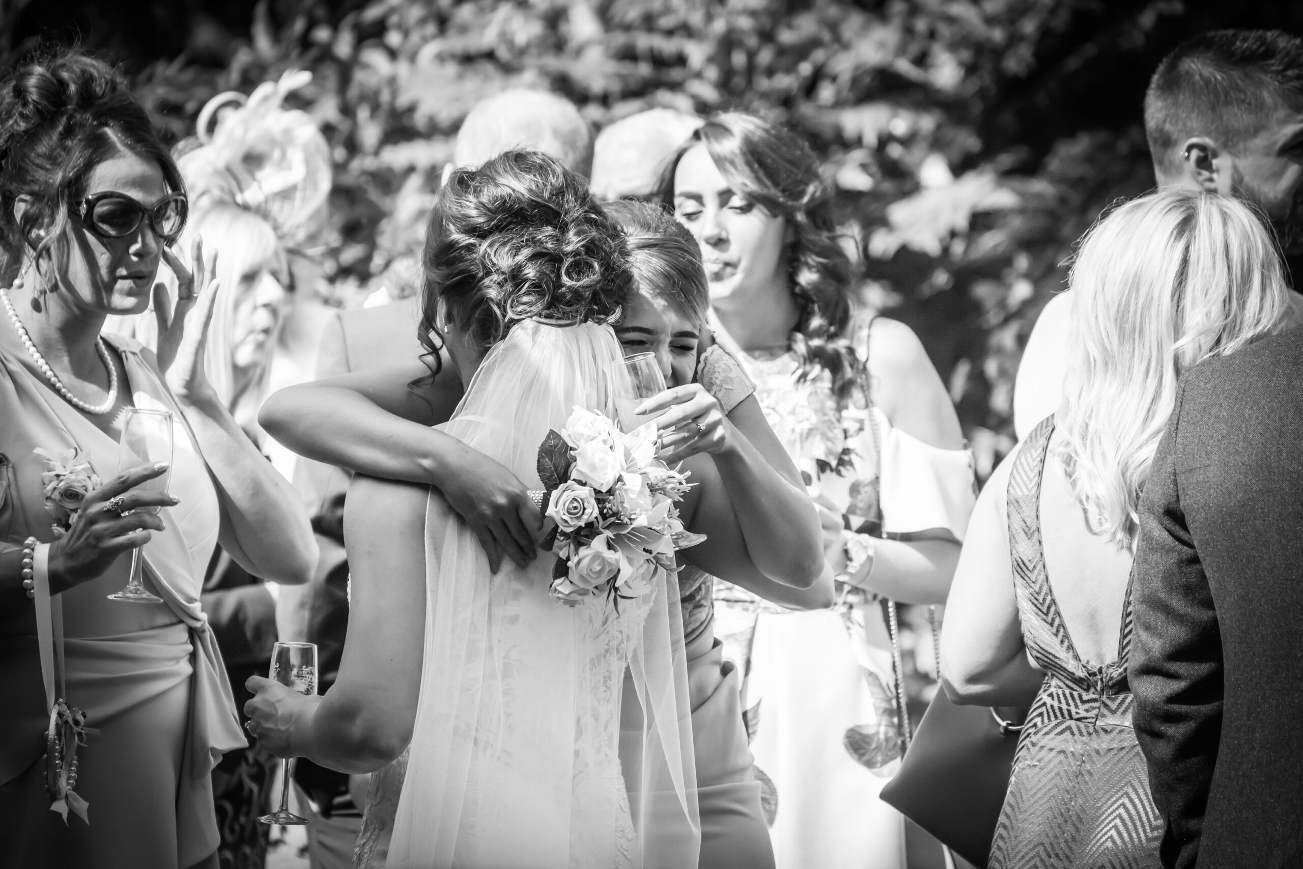 bride and groom kiss in the wedding ceremony at st hildas