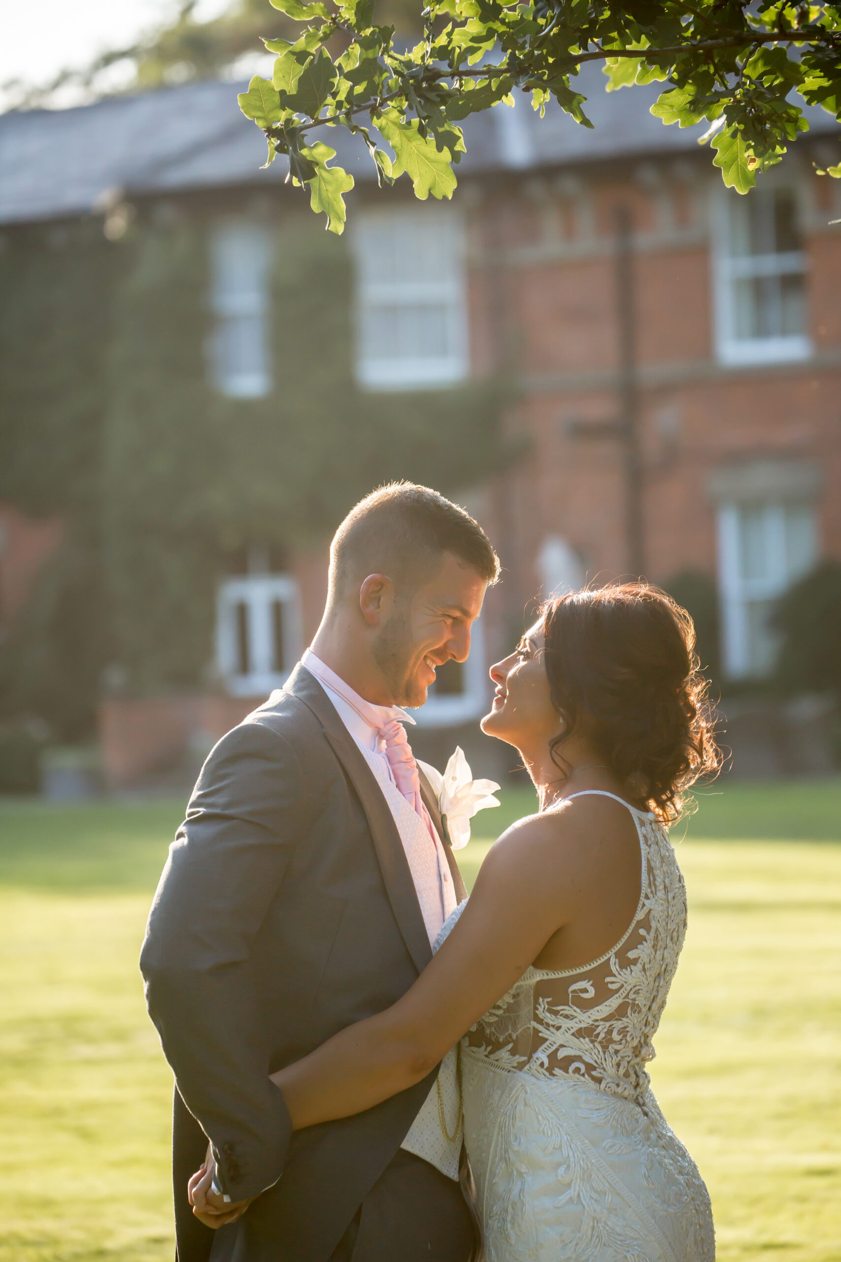 creative wedding photography at mitton hall in whalley